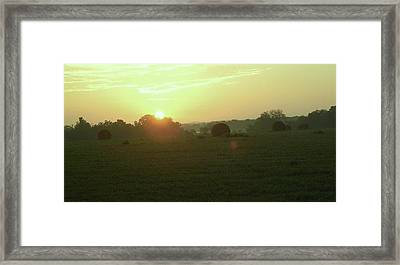 Framed Print featuring the photograph Hill Country Sunrise by John Glass