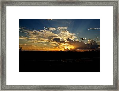 Hill Country Sunset Framed Print