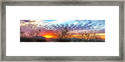 Hill Country Sunset Framed Print by Wally Taylor
