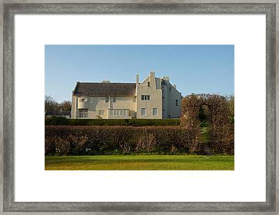 Hill House In The Evening Framed Print