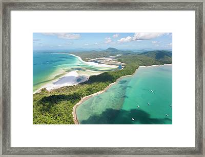 Hill Inlet Whitsunday Islands Framed Print by Peter Adams