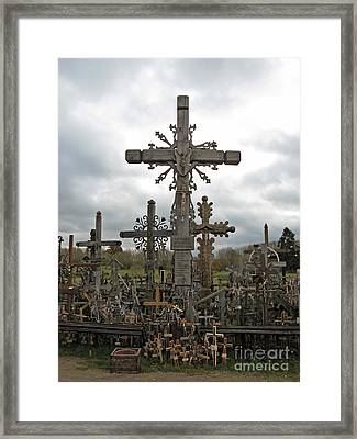 Hill Of Crosses 06. Lithuania.  Framed Print