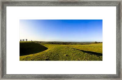 Hill Of Tara - Landscape Panorama Framed Print by Mark E Tisdale
