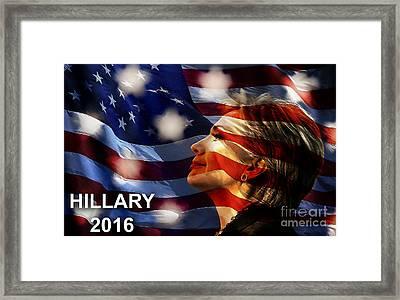 Hillary 2016 Framed Print by Marvin Blaine