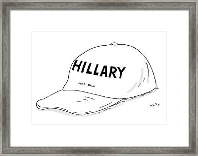 Hillary And Bill Framed Print