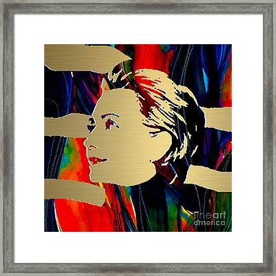 Hillary Clinton Gold Series Framed Print
