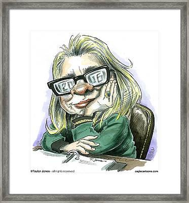 Hillaryvision Framed Print by Taylor Jones