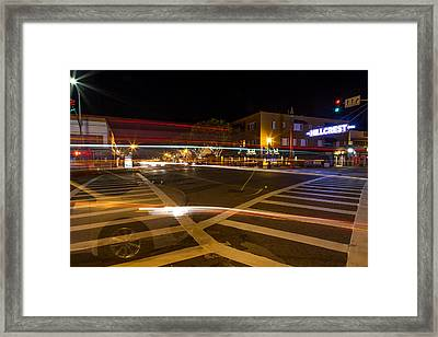 Hillcrest Neon Ghost Framed Print by John Daly