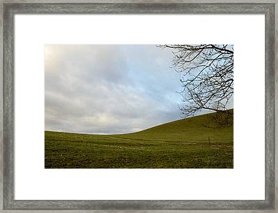 Framed Print featuring the photograph Hills And Sky by Felicia Tica