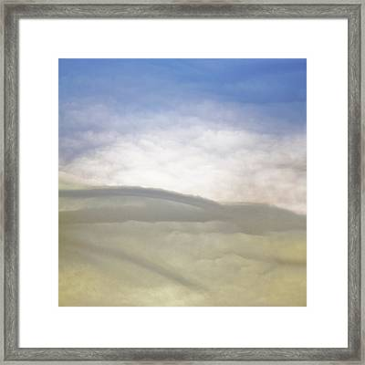 Hills Clouds And Sky Framed Print by Susan Leggett