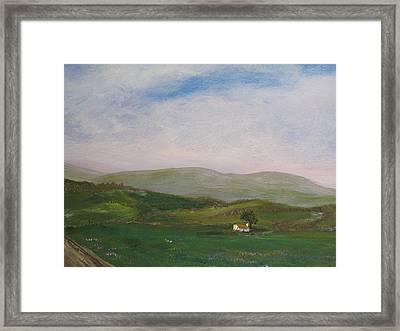Hills Of Ireland Framed Print