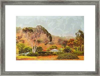 Hills Of Palos Verdes Framed Print
