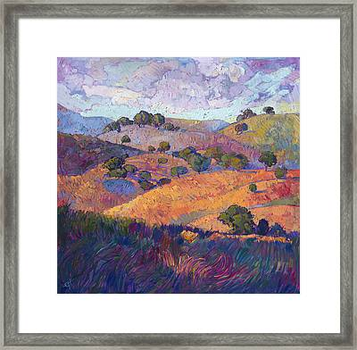 Hills Of Paso Framed Print