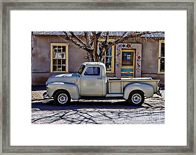 Framed Print featuring the painting Hillsboro New Mexico 1949 Gmc 100 by Barbara Chichester