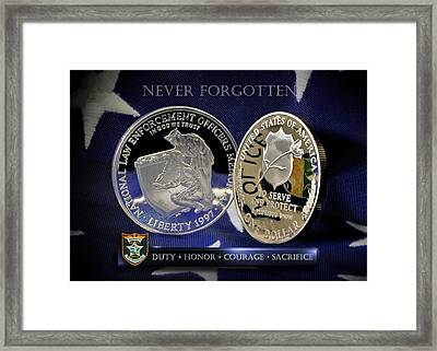 Hillsborough County Sheriff Memorial Framed Print by Gary Yost