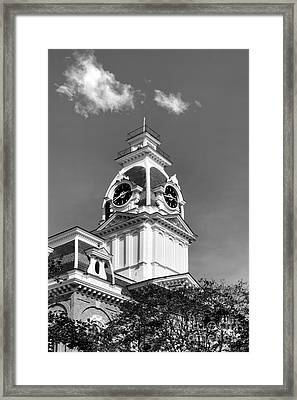 Hillsdale College Central Hall Cupola Framed Print by University Icons