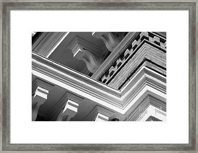 Hillsdale College Central Hall Detail Framed Print by University Icons