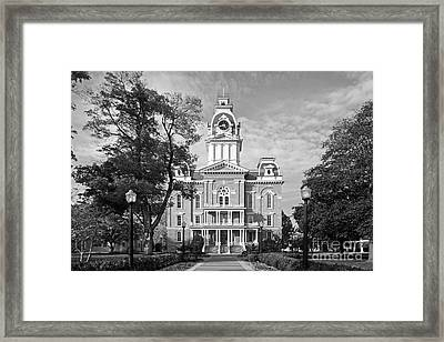 Hillsdale College Central Hall Framed Print by University Icons