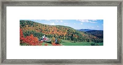 Hillside Acres Farm, Barnet, Vermont Framed Print by Panoramic Images