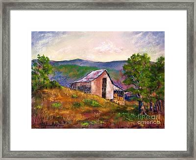 Hillside Barn Framed Print by Bruce Schrader