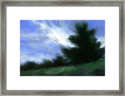 Hillside Breeze Framed Print
