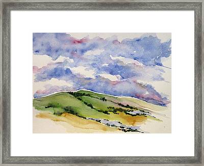Hillside In Bloom Framed Print by Renee Goularte