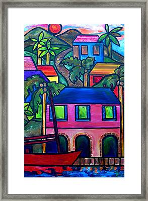Hillside In St. John Framed Print