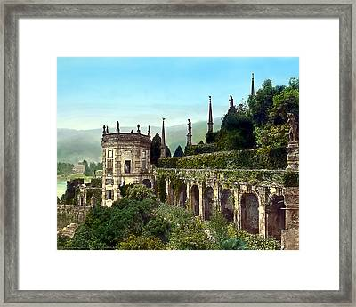 Hillside Mansion Framed Print by Terry Reynoldson