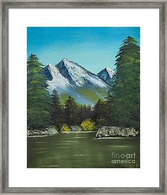Hillside Pond Framed Print by Dave Atkins