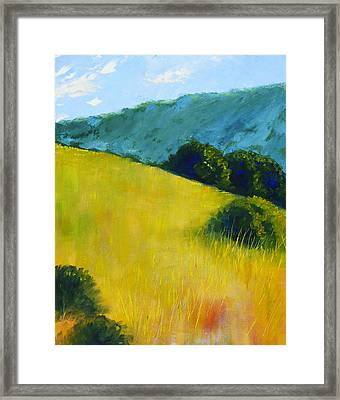 Hillside Prairie Framed Print by Nancy Merkle
