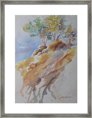 Hillside Rocks Framed Print by John  Svenson