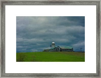 Come A Storm Framed Print by Jurgen Lorenzen