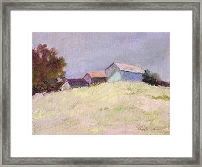 Hilltop Barns Framed Print