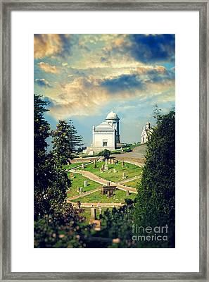Hilltop Cemetery Framed Print