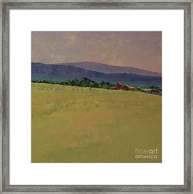 Hilltop Farm Framed Print by Gail Kent