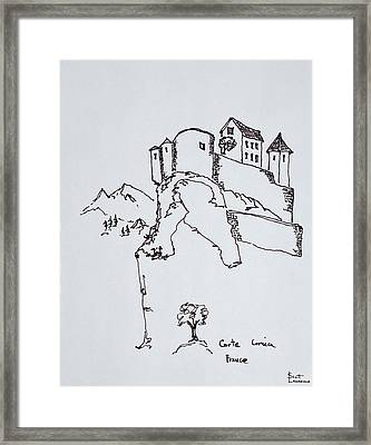 Hilltop Fortress Of Corte, Corsica Framed Print