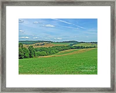 Hilltop Quiltwork Framed Print