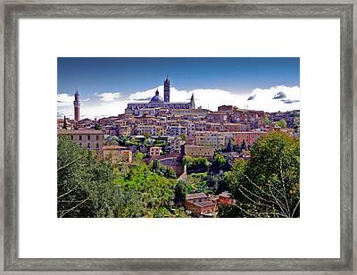 Hilltop Siena Framed Print by Walt  Baker