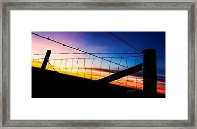Hilltop Sunset Framed Print