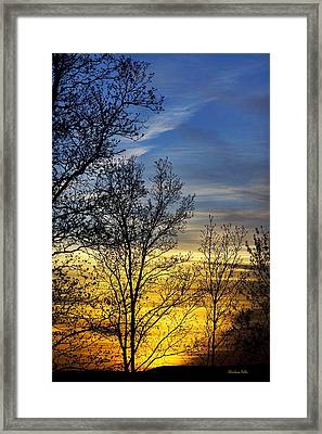 Hilltop Sunset Framed Print by Christina Rollo