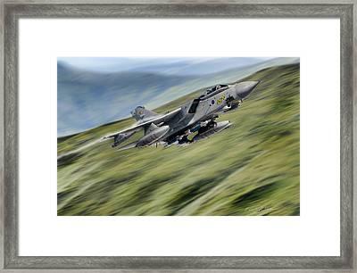 Hilltop Tornado Framed Print by Peter Chilelli