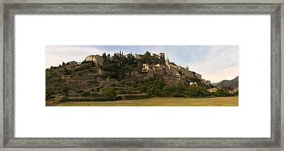 Hilltop Town Of Montbrun-les-bains Framed Print by Panoramic Images