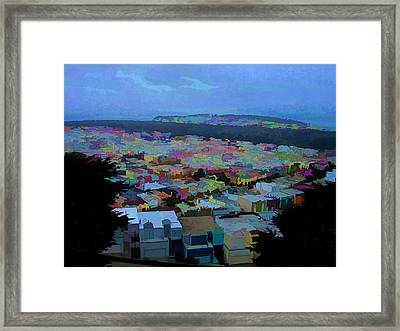 Hilltop View Framed Print by Bobbi Mercouri