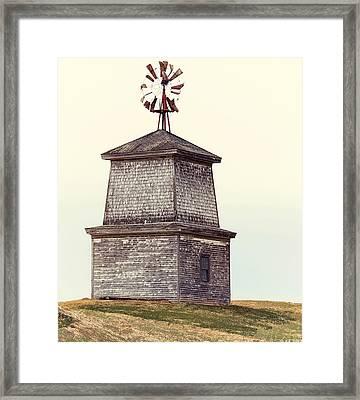 Hilltop Windmill Framed Print by Richard Bean