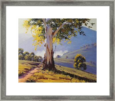 Hilly Australian Landscape Framed Print