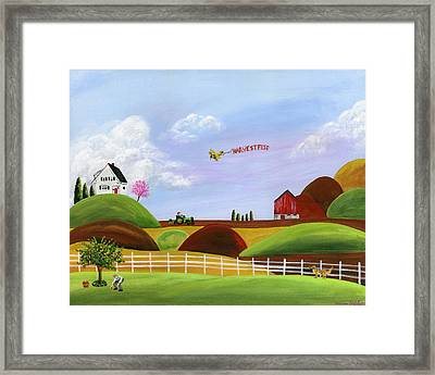 Hilly Harvest Framed Print by Brianna Mulvale