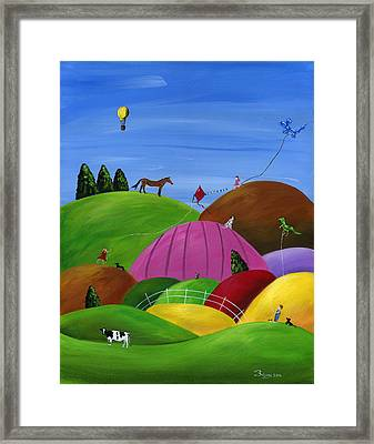 Hilly High Hopes Framed Print by Brianna Mulvale