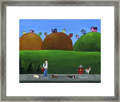Hilly Hold-up Framed Print by Brianna Mulvale