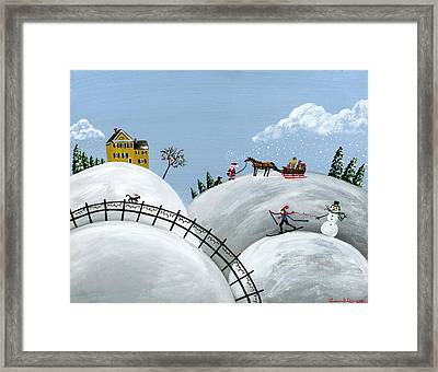Hilly Holiday Framed Print by Brianna Mulvale