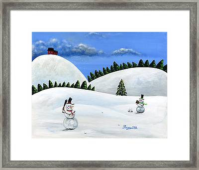 Hilly Holly Hardball Framed Print by Brianna Mulvale
